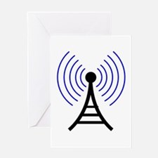 Radio Tower Signal Greeting Card