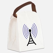 Radio Tower Signal Canvas Lunch Bag