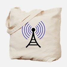Radio Tower Signal Tote Bag