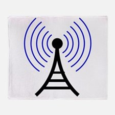 Radio Tower Signal Throw Blanket