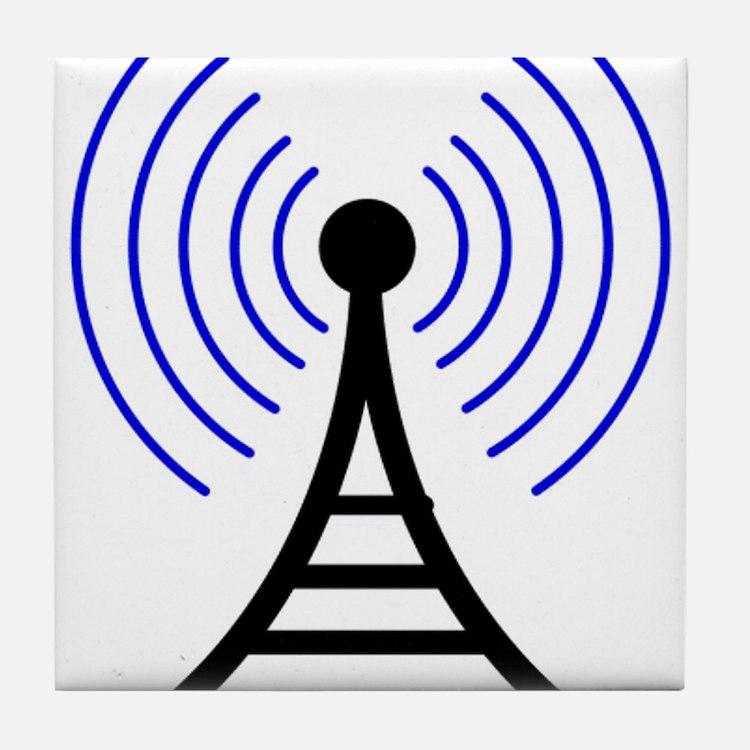 Radio Tower Signal Tile Coaster