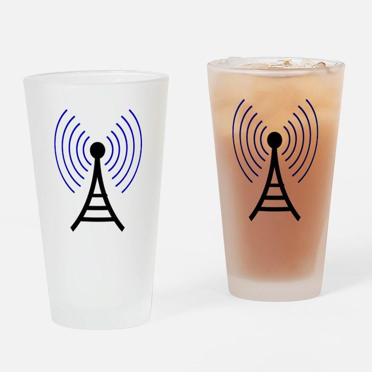 Radio Tower Signal Drinking Glass