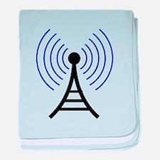 Radio Tower Signal baby blanket