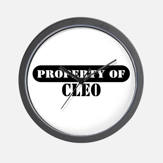 Property of Cleo Wall Clock