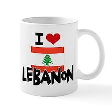 I HEART LEBANON FLAG Small Mug