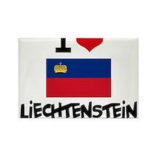 I HEART LIECHTENSTEIN FLAG Rectangle Magnet