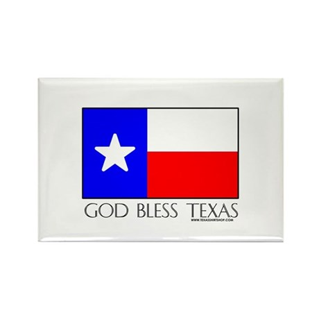 God Bless Texas Rectangle Magnet