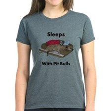 sleeps.with.pitbulls T-Shirt