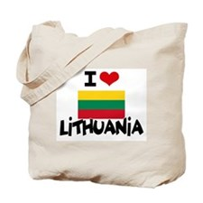 I HEART LITHUANIA FLAG Tote Bag