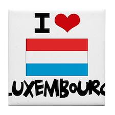 I HEART LUXEMBOURG FLAG Tile Coaster