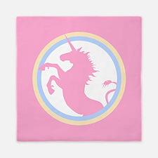 Retro Pink Unicorn Queen Duvet
