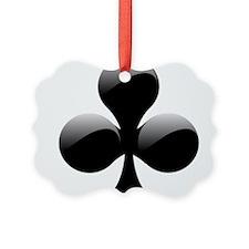 Black Club Playing Card Symbol Ornament