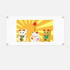Lucky Cats Banner
