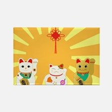 Lucky Cats Rectangle Magnet