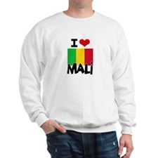 I HEART MALI FLAG Sweatshirt