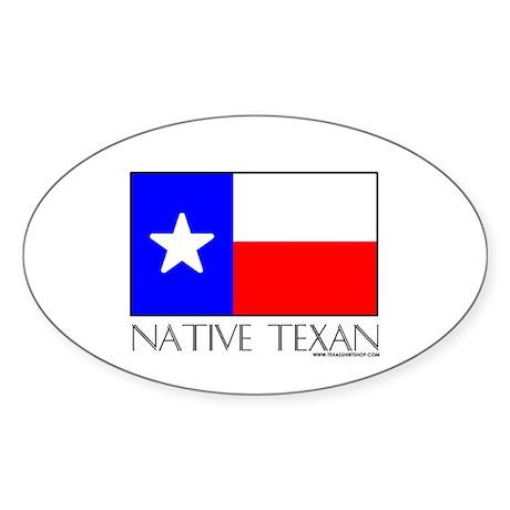 Native Texan Oval Sticker