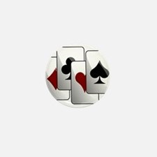 Deck of Playing Cards Mini Button (10 pack)