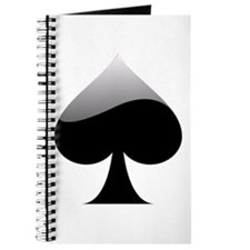 Black Spade Playing Card Symbol Journal