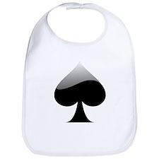 Black Spade Playing Card Symbol Bib