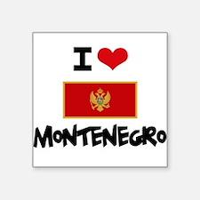 I HEART MONTENEGRO FLAG Sticker