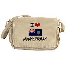 I HEART MONTSERRAT FLAG Messenger Bag