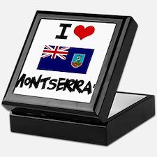 I HEART MONTSERRAT FLAG Keepsake Box