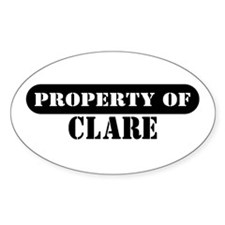 Property of Clare Oval Decal