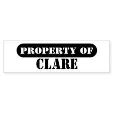 Property of Clare Bumper Bumper Sticker
