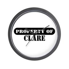 Property of Clare Wall Clock
