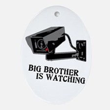 CCTV Big Brother Is Watching Ornament (Oval)