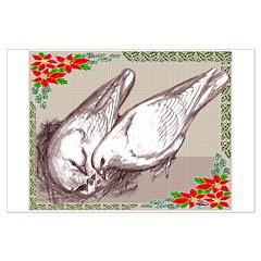 Nesting Pigeon Christmas Posters