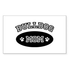 Bulldog Mom Rectangle Decal