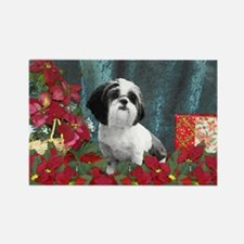 Shih Tzu Christmas China D Rectangle Magnet