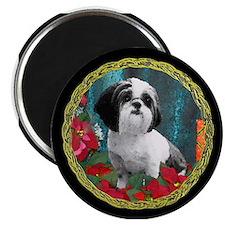 """Shih Tzu Christmas China D 2.25"""" Magnet (10 pack)"""