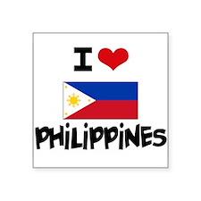 I HEART PHILIPPINES FLAG Sticker