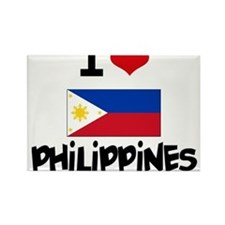 I HEART PHILIPPINES FLAG Rectangle Magnet