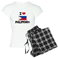 I HEART PHILIPPINES FLAG Pajamas