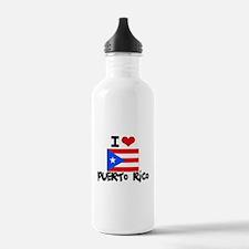 I HEART PUERTO RICO FLAG Water Bottle
