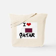 I HEART QATAR FLAG Tote Bag