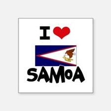 I HEART SAMOA FLAG Sticker