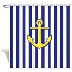 Classic Anchor And Stripes Shower Curtain