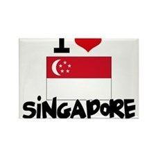 I HEART SINGAPORE FLAG Rectangle Magnet