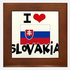 I HEART SLOVAKIA FLAG Framed Tile