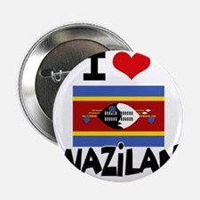 "I HEART SWAZILAND FLAG 2.25"" Button"