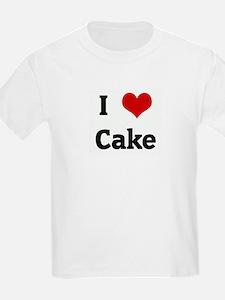 I Love Cake Kids T-Shirt