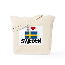 I HEART SWEDEN FLAG Tote Bag