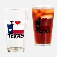 I HEART TEXAS FLAG Drinking Glass