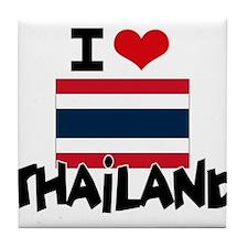 I HEART THAILAND FLAG Tile Coaster