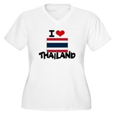 I HEART THAILAND FLAG Plus Size T-Shirt