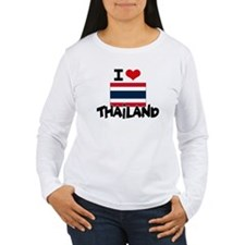 I HEART THAILAND FLAG Long Sleeve T-Shirt
